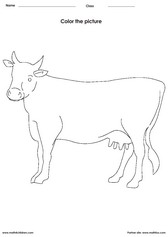 Coloring A Cow Activities For Children